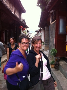 Karen,Linda truly enjoying Lijiang Old Town